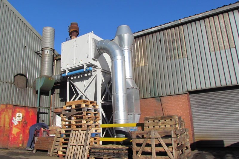 Filter Cartridge Dust Removal Unit - WB Whites Foundry