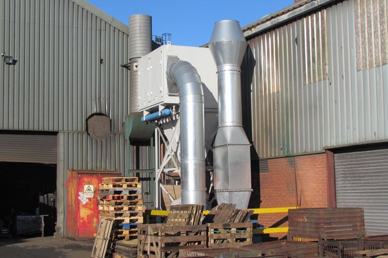 Filter Cartridge Industrial Dust Removal Unit - WB Whites Foundry