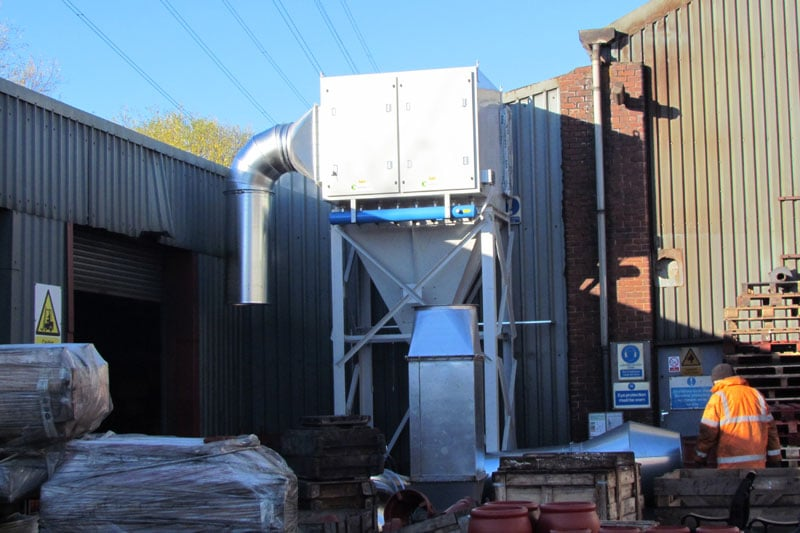 Industrial Dust Removal Unit At WB Whites Foundry